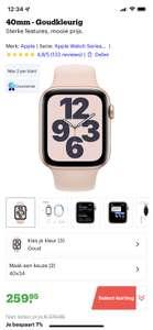 Apple Watch SE - Smartwatch - 40mm - Goudkleurig (Select)