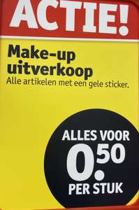 0,50 make-up met gele sticker kruidvat