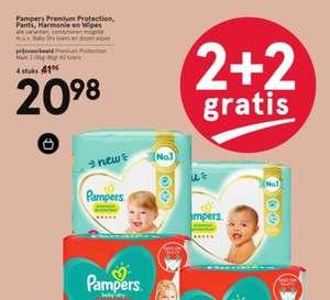 Pampers en Pampers billendoekjes bij Etos nu 2+2 gratis