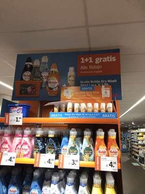 Robijn gratis dry wash spray bij 1+1 gratis producten