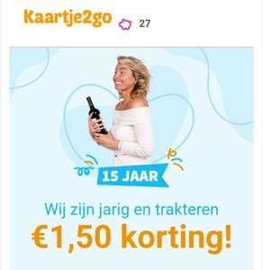 €1,5 korting kaart bij kaartje2go