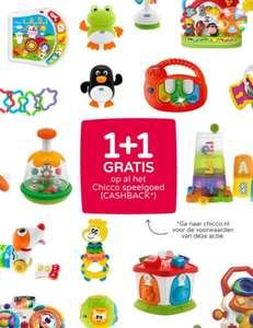 CHICCO speelgoed 1+1 gratis (cashback) o.a. bij Prénatal