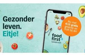 Vernieuwde FoodFirst app van Albert Heijn (€15 korting op groente/fruit bij afnemen abonnement t.w.v. €9,99)