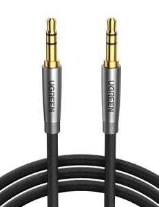 UGREEN AUX gevlochten kabel 2m 3.5 mm jack (male to male) voor €5,99 @ Amazon.nl