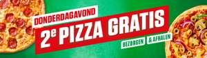 2e pizza gratis (bezorgen en afhalen)