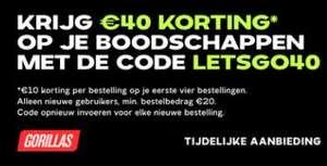 €10 korting op je boodschappen (vanaf €20 boodschappen)