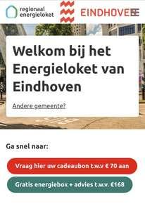 Lokaal Eindhoven : Gratis energiebox of cadeaubon t.w.v €70