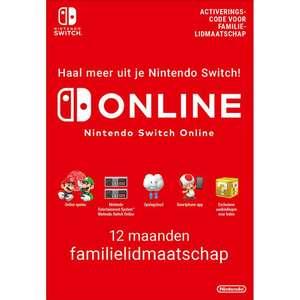 Nintendo Switch online Familie lidmaatschap