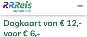 RRReis Dagkaart van €12 voor €6