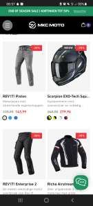 End of season sale bij MKC Moto