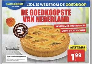 Verse roomboter appeltaart 600 gram bij Lidl
