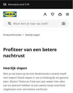 -20% Korting bij IKEA - Slaapkamer artikelen + slimme verlichting