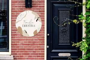 Gepersonaliseerd huisnummerbordje (naam, nr, afbeelding) v.a. €5,95 @ Groupon