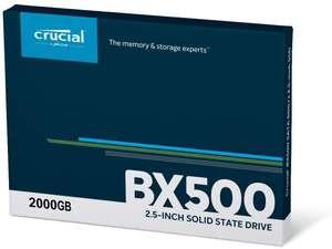 Crucial BX500 2TB SSD (QLC) (€136.19 in app) @Amazon FR