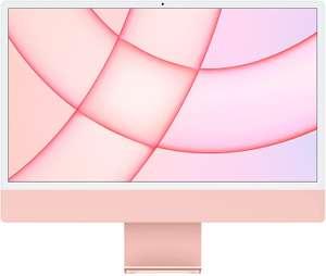 2021 Apple iMac (24-inch, Apple M1‑chip met 8‑core CPU en 8‑core GPU, Vier poorten, 8 GB RAM, 256 GB) - roze