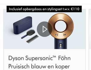 Dyson Supersonic föhn incl. opbergdoos en stylingset