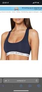 Tommy Hilfiger Iconic sportbeha blauw