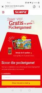 Gratis 999 game o.a. Beverbende, Boonanza & Pocket Escape room bij 4 flessen Slimpie