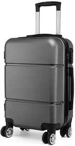 Kono suitcase 20'' Travel Carry On Hand Cabin Luggage Hard Shell Travel Bag Lightweight, grey (grau grau), Continue