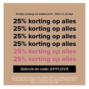 25% korting op alles van NA-KD in hun app!