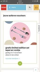 Limited Edition HEMA vorkje en lepel voor €0,01