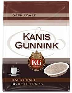 Kanis & Gunnink Koffiepads Dark Roast (360 Koffiepads, Intensiteit 08/09, Dark Roast Koffie), 10 x 36 Pads