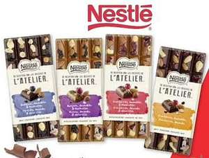 NESTLÉ L'ATELIER chocolade repen (170 gr) nu met € 1,89 geld terug @ Nestlé