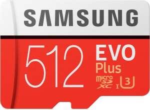 Samsung EVO 512GB U3 micro sd kaart