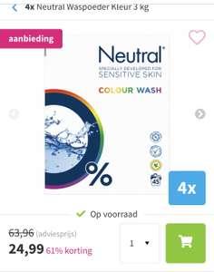 4x 3 KG Neutral waspoeder kleur
