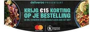 Deliveroo / Mastercard - €15,- korting bij min. €30,-