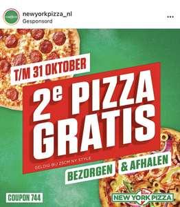 New York Pizza 2e pizza gratis t/m 31 okt