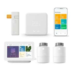 tado° Slimme Bedrade Thermostaat Starter Kit V3+ + 2x Radiatorknoppen + Google Nest Hub (Gen. 2) voor €214 @ tink