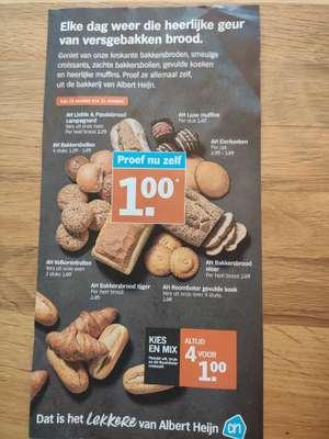 Verschillende broden (bijvoorbeeld liefde & passie brood, bakkersbrood vloer, etc.) €1 @Albert Heijn