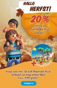 20% korting + Gratis 4 seizoenen herfst 9863 bij een min. van €50 aan PLAYMOBIL PLUS