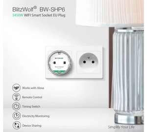 [4PCS] BlitzWolf® BW-SHP6 Pro 15A Wifi Smart Plug Alexa Google App