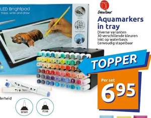 @Action. Aquamarkers in tray 30st.