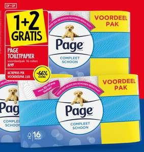 Page Toiletpapier 1+2 gratis bij Jan Linders