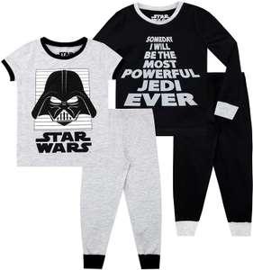 STAR WARS kinder Pyjama Pack van 2, Snuggle Fit (Officieel gelicenseerde Star Wars-merchandise, exclusief ontworpen voor Character UK)