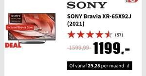 """[Red Week Deal] SONY Bravia XR-65X92J (2021) - 65"""" (ook 55"""")"""