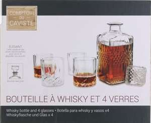 Whisky set, 4 glazen + fles