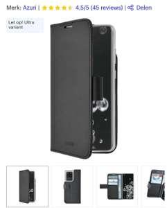 Azuri Samsung Galaxy S20 Ultra hoesje - Walletcase - Zwart