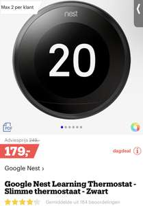 Google Nest Learning Thermostat (ook Tado en Netatmo dagdeal)