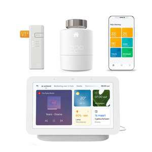 tado ° Slimme Radiatorknop Starter Kit V3+ + Google Nest Hub (Gen. 2)