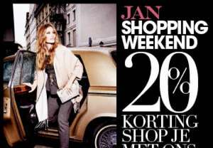 [UPDATE] JAN Shoppingweekend - 20% korting bij diverse webshops @ Jan Magazine