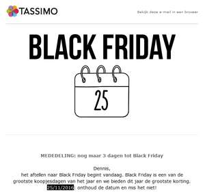 [Black Friday] Aanbiedingen + diverse kortingscodes @ Tassimo