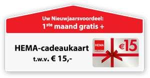 Gratis lot en cadeaukaart Hema (€15) @ Postcode loterij