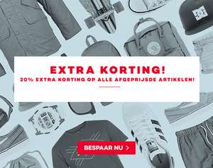 Met code 20% extra korting op sale / outlet @ Planet Sports