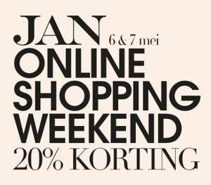 6 & 7 mei: Jan Online Shopping Weekend - 20% korting bij 14 webshops