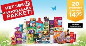 Voorjaarboodschappenpakket met 20 producten voor €14,95 (+gratis bezorging) @ SBS6