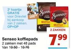 2e kaartje GRATIS voor Drievliet bij aankoop van 2 pakken Senseo!